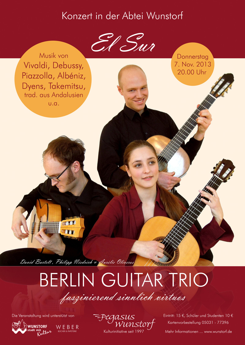 Plakat Berlin Guitar Trio